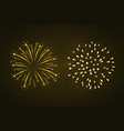 beautiful gold fireworks set vector image vector image