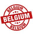 belgium red round grunge stamp vector image vector image
