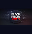 black friday sale banner on disco ball background vector image vector image