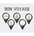 bon boyage vector image vector image