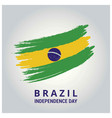 brazil country flag in brush stroke abstract vector image
