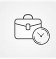 briefcase with clock icon sign symbol vector image