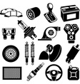 Car maintenance icons vector image