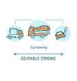 car towing concept icon vector image