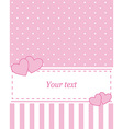 Card invitation pink vector image vector image