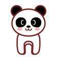 cartoon panda animal image vector image vector image