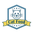 Cat food label vector image