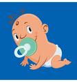crawling baby vector image vector image
