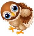 cute baby owl cartoon walking vector image
