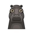 cute hippopotamus face icon cartoon hippo on vector image