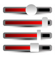 easy to adjust faders adjusters sliders with vector image vector image