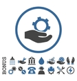 Engineering Service Flat Rounded Icon With vector image vector image