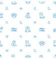 foot icons pattern seamless white background vector image vector image