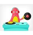Funny Monster DJ vector image