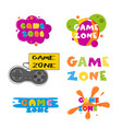 game zone entertainment banner set vector image