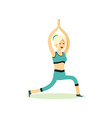 Girl posing pose yoga vector image vector image