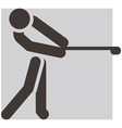 golf icon vector image vector image
