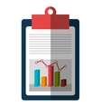 Growth statistics with graphics isolated flat icon vector image