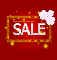 happy chinese new year sale on red background vector image vector image