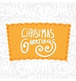 Holiday greetings lettering vector image vector image