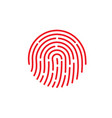 id app icon fingerprint on vector image vector image
