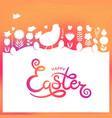 modern easter hand drawn happy easter lettering vector image vector image