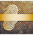 mosaic and ribbon vector image