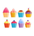 party cake food dessert sweet cream celebration vector image