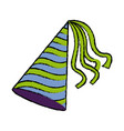 party hat accessory symbol of the celebration vector image