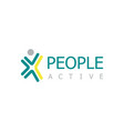 people active logo vector image vector image