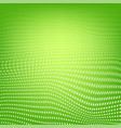 polygonal space low poly green background with vector image vector image
