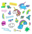 Pop art set with fashion patch badges Magic vector image vector image