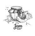 pumpkin jam glass jar drawing jelly and vector image vector image