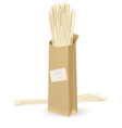 realistic package spaghetti vector image vector image