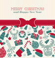 Retro Christmas card Typography vector image vector image
