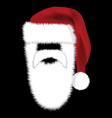 santa hat with beard and mustache icon symbol vector image