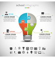 School Infographic vector image vector image