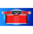 scoreboard chart sport vector image vector image