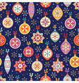 Seamless background with multicolored balls vector image