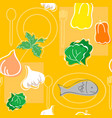 seamless pattern food vector image vector image