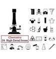 set of 24 chemistry icons vector image