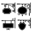 set retro graphic forged signboards vector image vector image
