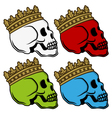 Skull king crown vector image