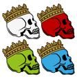 Skull king crown vector image vector image