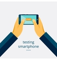 Smartphone testing vector image