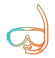 snorkel and googles isolated icon vector image vector image