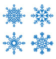 snowflakes icons snow in winter season vector image