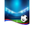 soccer field with stadium 005 vector image vector image