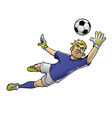 soccer goalkeeper in action vector image