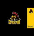 spartan esport logo icon vector image vector image